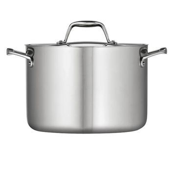 Tramontina Gourmet Tri-Ply Clad Stainless Steel 8-qt. Stockpot