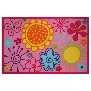 Fun Rugs Fun Time Fancy Floral Rug - 3'3'' x 4'10'', Multicolor, 3X5 Ft