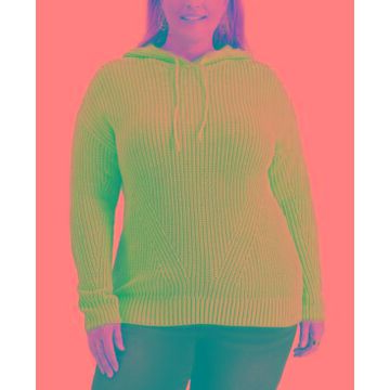 Style & Co Plus Size Ribbed Hoodie Sweater, Created for Macy's