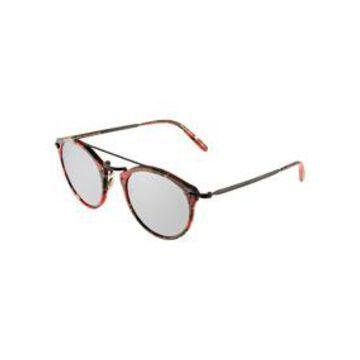 Remick Round Acetate/Metal Aviator Sunglasses