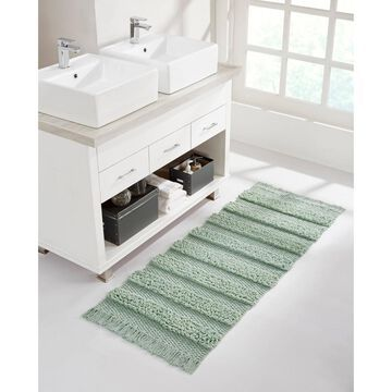 Savannah Cotton Fringe Bath Runner Sage - VCNY