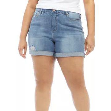 American Rag Women's Plus Size Jaden Roll Cuff Shortie Shorts - -
