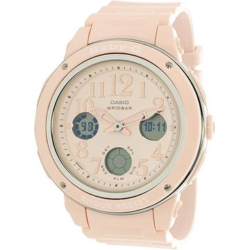 Casio Women's Baby G BGA150EF-4B Pink Rubber Quartz Sport Watch