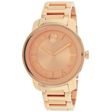 Movado 3600199 'Bold' Rose Goldtone Steel Watch