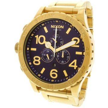 Nixon Men's 51-30 A0832735 Gold Stainless-Steel Japanese Quartz Dress Watch