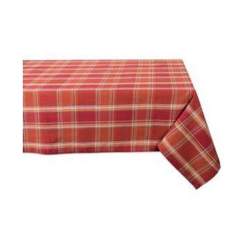 Design Imports Autumn Spice Plaid Tablecloth
