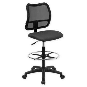 Flash Furniture Armless Drafting Stool in Grey