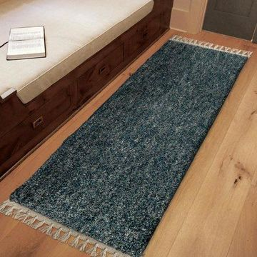 Orian Rugs Bedouin Solid Indigo Area Rug or Runner with Fringe