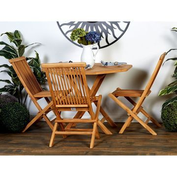 Traditional 5-Piece Teak Wood Dining Set by Studio 350
