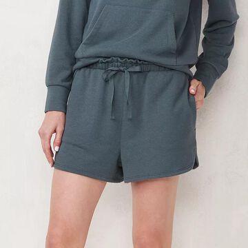 Women's LC Lauren Conrad High-Waisted Soft Shorts, Size: XXL, Dark Blue