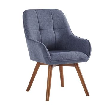 Porthos Home Venn Fabric Dining Chairs, Hemp Upholstery, Beech Wood