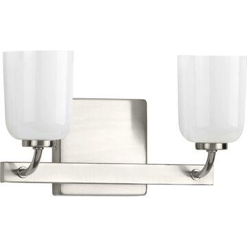 Progress Lighting Moore 2-Light Nickel Glam Vanity Light   P300281-009
