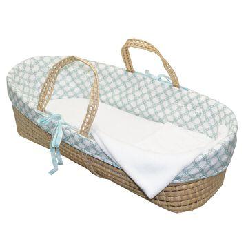 Cotton Tale Sweet and Simple Aqua/Blue Moses Basket