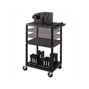 Luxor 3-Shelf Multi-Height A/V Cart, Black