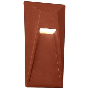 Justice Design Group Ambiance Vertice Outdoor LED Wall Sconce - Color: Red - CER-5680W-SLTR