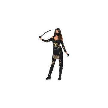 Stealth Ninja Costume 85629 Leg Avenue Black/Gold Large
