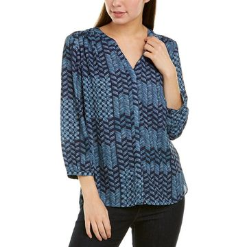 Nydj Womens Pintuck Blouse