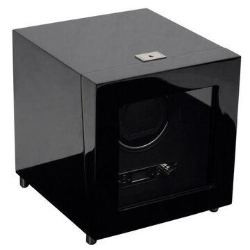 WOLF 2.7 Savoy Single Automatic Watch Winder Battery Operated Black