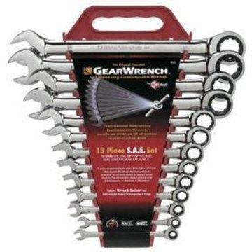 GearWrench GearWrench 13-Piece Ratcheting-Box Combo Wrench Set, SAE, 1/4'' to 1'', 12-Pt Box