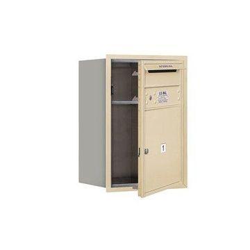 Salsbury Industries Recessed USPS 2 Door Front Load 4C Horizontal Mail Center with 1 Parcel Locker