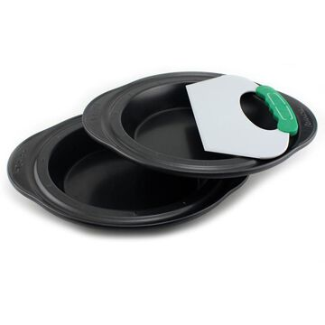 BergHOFF Perfect Slice 3pc Pie Pans with Tool in Black