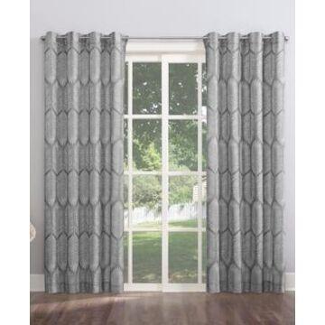 Sun Zero Borneo Tropical Foliage Indoor-Outdoor Room Darkening Grommet Curtain Panel, 54