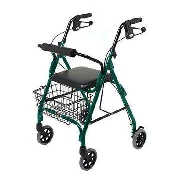 Medline 4 Wheeled Walker Green