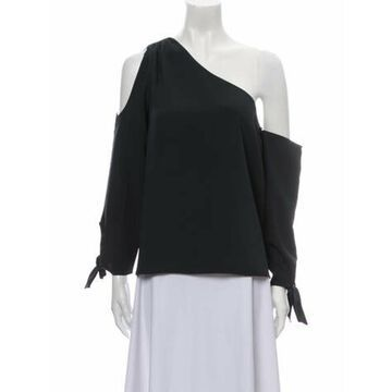 Off-The-Shoulder Long Sleeve Blouse w/ Tags Green