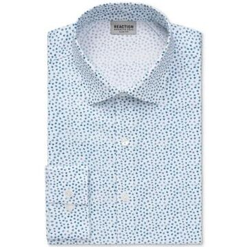 Kenneth Cole Reaction Men's Slim-Fit Patterned All-Day Flex Performance Dress Shirt