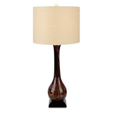 Imax Glass And Crystal Table Lamp With Brown Finish 16356