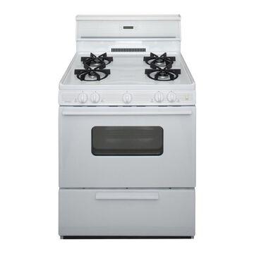 Premier 30-in 4 Burners 3.9-cu ft Manual Clean Gas Range (White on White)
