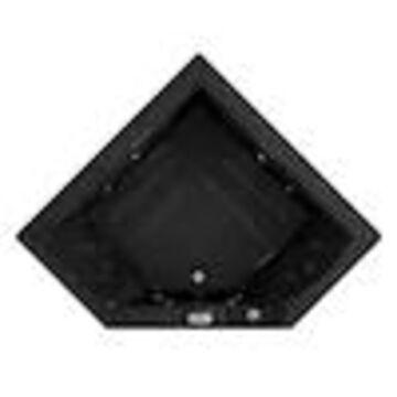 Jacuzzi Fuzion 65.75-in Black Acrylic Rectangular Front Center Drain Drop-In Whirlpool Bathtub and Air Bath