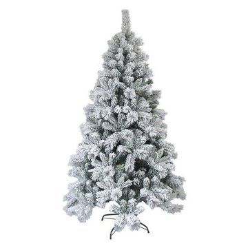 Aleko Snow Dusted Artificial Christmas Tree, 8' With Metal Stand