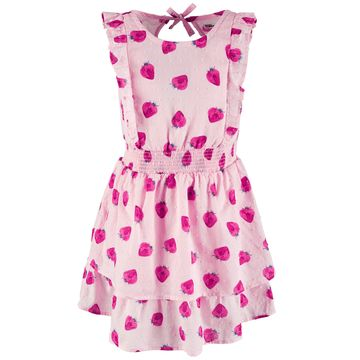 Little Girls Strawberry-Print Cotton Dress, Created for Macy's