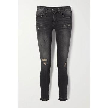 R13 - Kate Distressed High-rise Skinny Jeans - Black