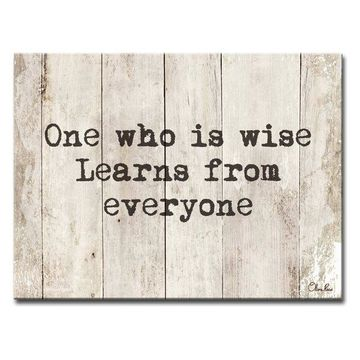 Ready2HangArt Inspirational 'Wise Learner' Wrapped Canvas Wall Art