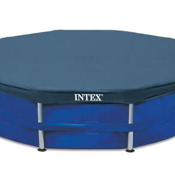 Intex 15-ft x 15-ft Intex Vinyl Leaf and Debris Pool Cover in Gray | 81587