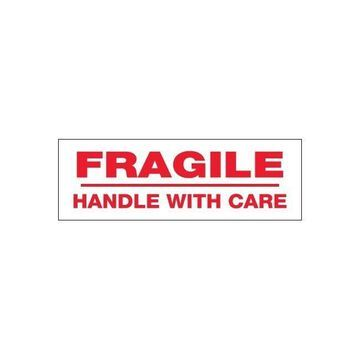 Tape Logic Pre-Printed Sealing Tape Fragile H&le With Care 2x110 yds. 18/CS