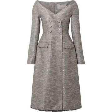 Lela Rose - Sequin-embellished Tweed Dress - Gray