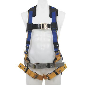 Werner Blue Armor 3-Ring Construction Safety Harness - Blue, Small, Model H132101