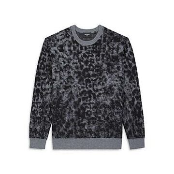 The Kooples Animal Print Crewneck Sweater