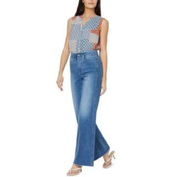 Nydj Teresa Wide-Leg Frayed-Hem Jeans