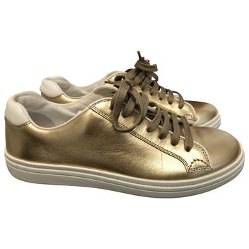Church's Gold Leather Trainers