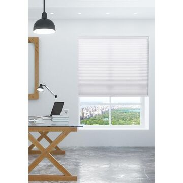 """Arlo Blinds Pure White Light Filtering Cordless Cellular Shades (34""""W x 72""""H)"""