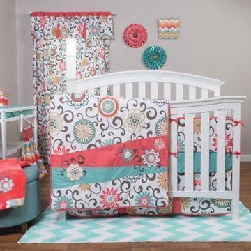 Waverly Baby by Trend Lab Pom Pom Play 4-Piece Crib Bedding Set