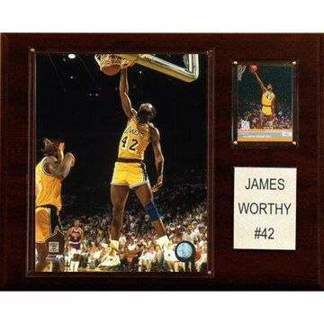 C&I Collectables NBA 12x15 James Worthy Los Angeles Lakers Player Plaque