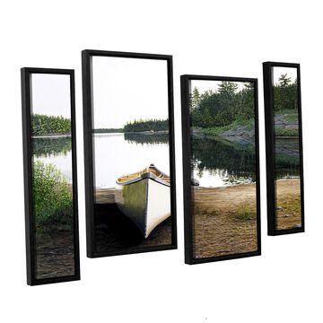 ArtWall Ken Kirsh 'Silent Retreat 1' 4 Piece Floater Framed Canvas Staggered Set - Multi