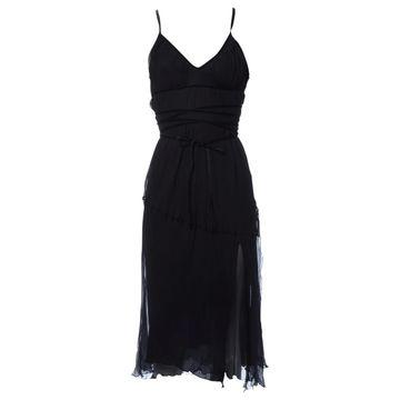 Philosophy Di Alberta Ferretti Black Silk Dresses