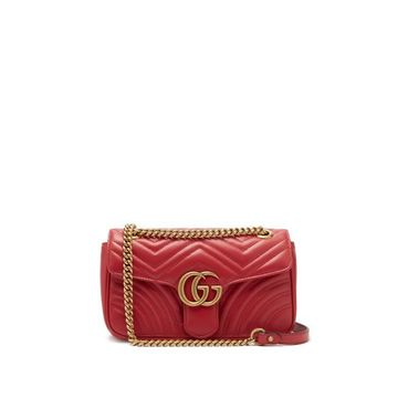 Gucci - Gg Marmont Mini Quilted-leather Bag - Womens - Red