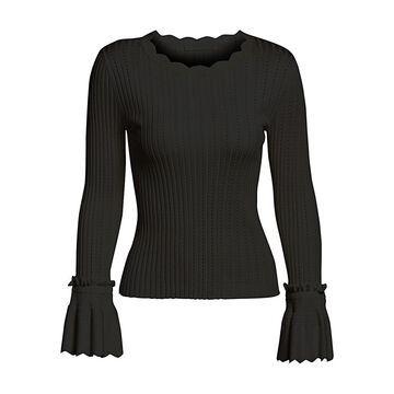 Jonathan Simkhai Scalloped Trim Sweater